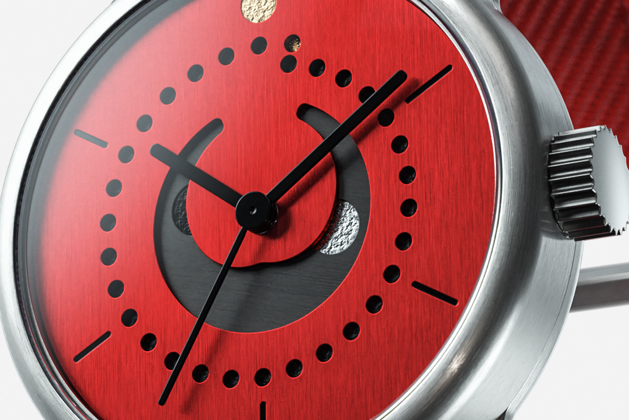 Moon Phase Special Red detail