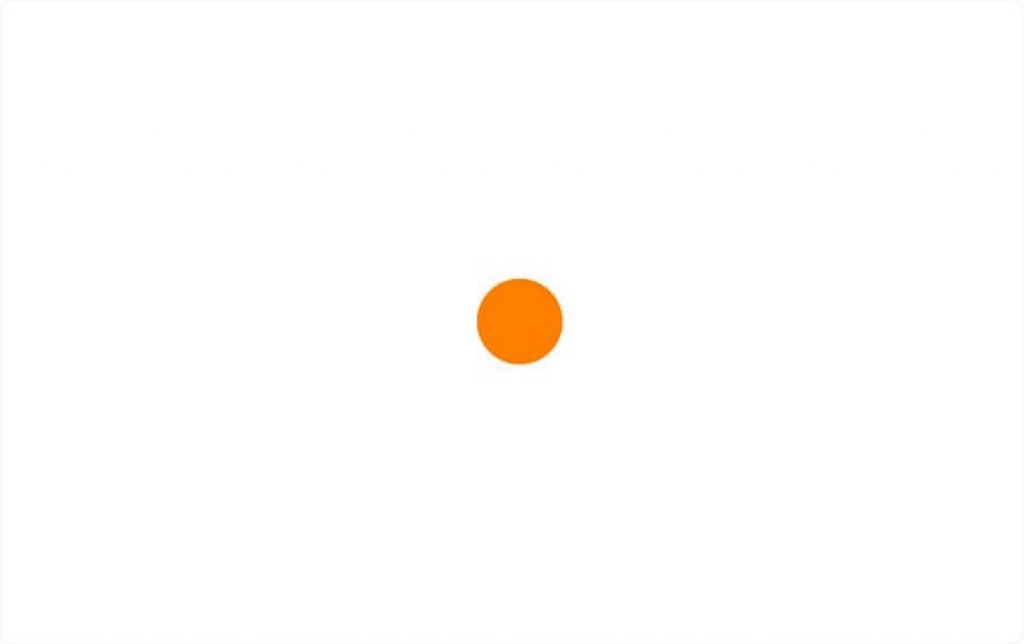 The orange dot